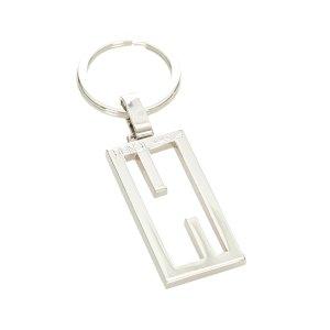 Fendi Porte-clés argenté métal