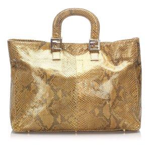 Fendi Snakeskin Tote Bag