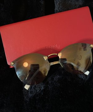 Fendi Retro Glasses gold-colored