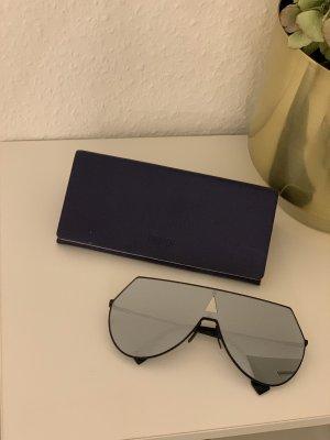 Fendi Gafas de piloto negro-color plata