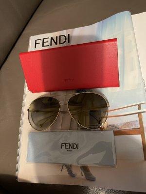Fendi Aviator Glasses bronze-colored
