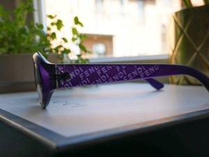 Fendi Gafas de sol ovaladas púrpura-lila Material sintético