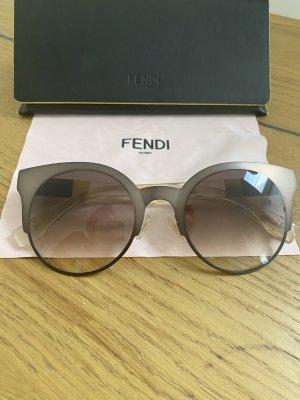 Fendi Gafas de sol redondas marrón claro