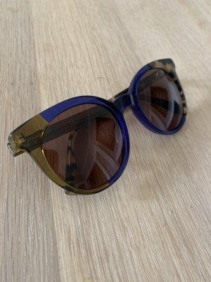 Fendi Gafas mariposa marrón-azul