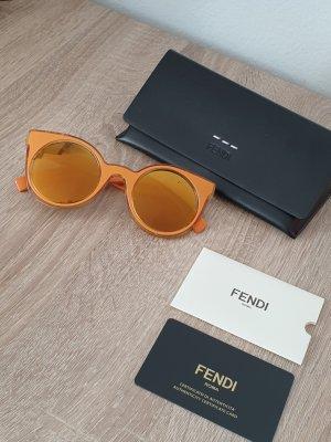 Fendi Occhiale da sole rotondo arancione-arancio neon