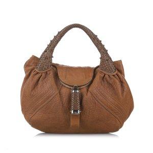 Fendi Spy Leather Hobo Bag