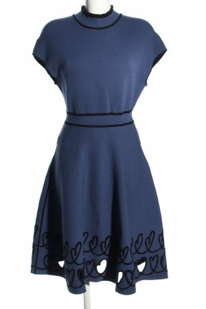 Fendi Strickkleid blau Motivdruck Casual-Look