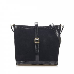 Fendi Suede Leather Shoulder Bag