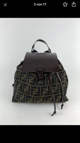 Fendi Sac en toile multicolore