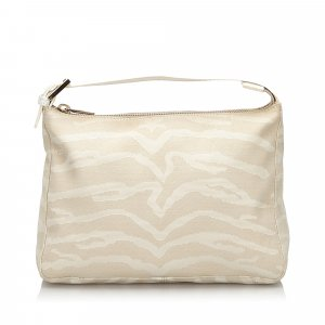 Fendi Tiger Print Canvas Handbag