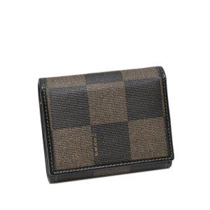 Fendi Tri-Fold Pequin Small Wallet