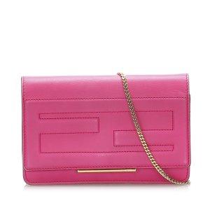 Fendi Tube Leather Wallet on Chain
