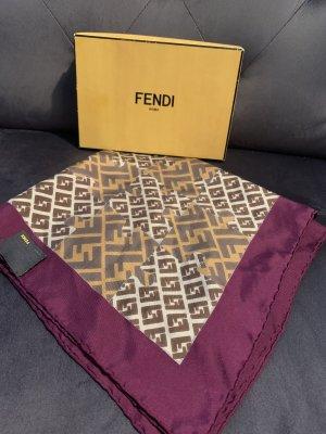 Fendi Pañoleta marrón Seda