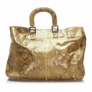 Fendi Twin Python Leather Tote Bag
