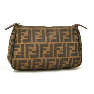 Fendi Sac à main brun fibre textile