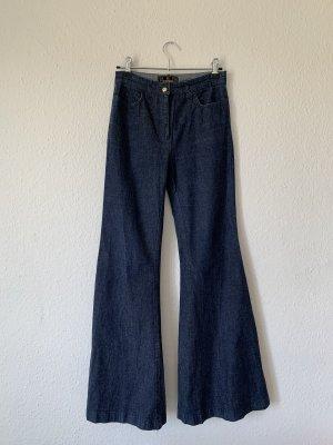 Fendi Jeans a zampa d'elefante blu scuro