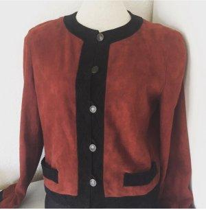 FENDI Vintage Blazer Jacke Jäckchen Wildleder Leder
