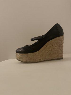 Fendi Sandalias con plataforma negro-crema