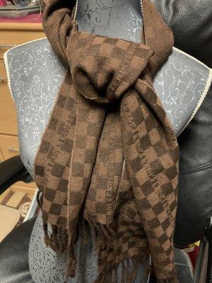 Fendi Woolen Scarf dark brown-light brown