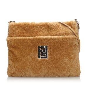 Fendi Wool Crossbody Bag