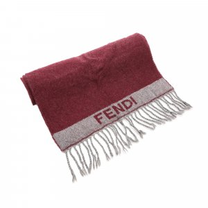Fendi Wool Fringed Scarf