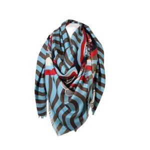 Fendi XL Tuch, Stola aus Seide und Wolle
