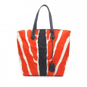 Fendi Zebra Print Nylon Tote Bag