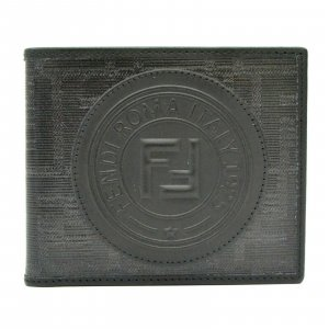 Fendi Wallet black textile fiber