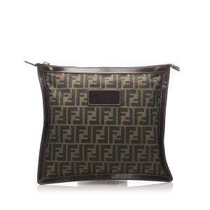 Fendi Zucca Canvas Clutch Bag