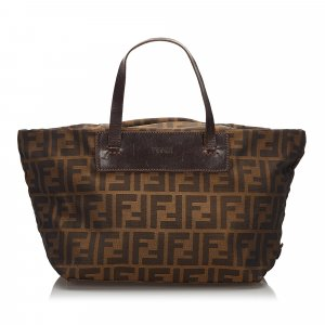 Fendi Zucca Canvas Handbag