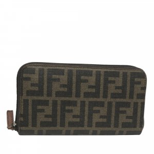 Fendi Zucca Canvas Long Wallet