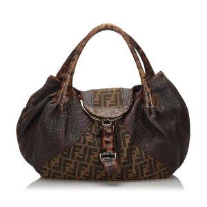 Fendi Zucca Canvas Spy Handbag