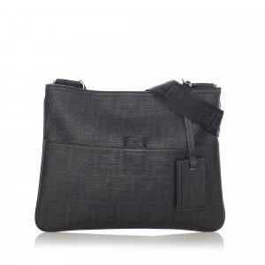 Fendi Zucca Coated CanvasCrossbody Bag