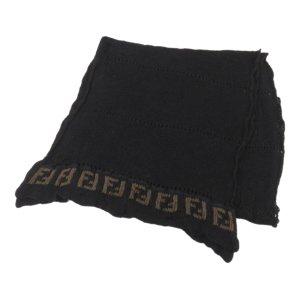 Fendi Scarf black cotton