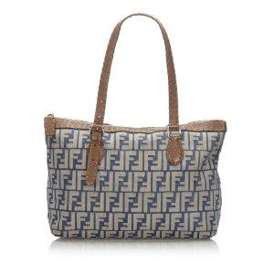 Fendi Zucca Denim Shoulder Bag
