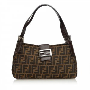 Fendi Zucca Jacquard Shoulder Bag