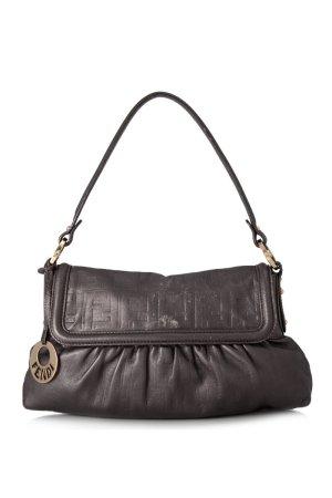 Fendi Zucca Leather Chef Shoulder Bag