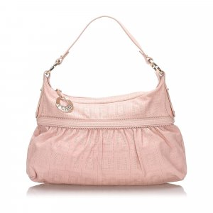 Fendi Shoulder Bag pink leather