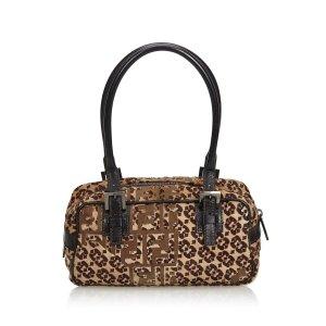 Fendi Zucca Pony Hair Handbag