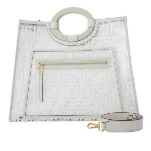 Fendi Tornister biały Włókno chlorowe