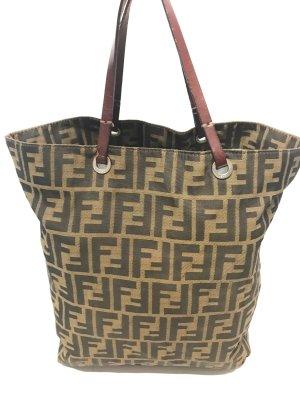 Fendi Bolso de compra marrón fibra textil