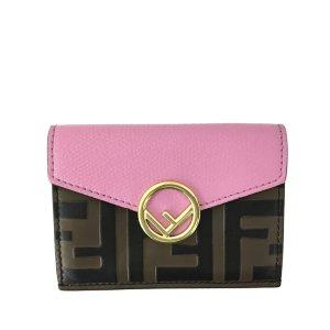 Fendi Zucca Tri-fold Leather Wallet