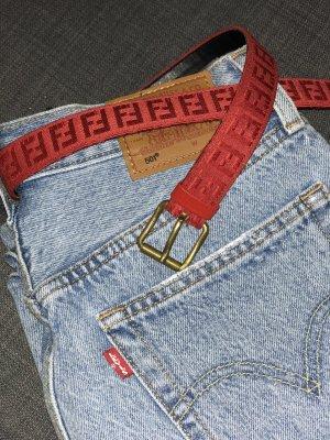 Fendi Cintura in tela rosso