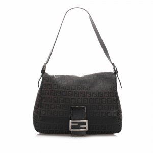 Fendi Zucchino Canvas Mamma Forever Shoulder Bag