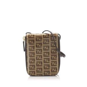 Fendi Zucchino Coated Canvas Crossbody Bag