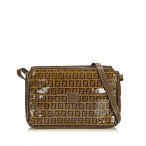 Fendi Zucchino Coated Canvas Crossbody Bag