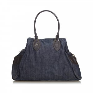 Fendi Zucchino Denim Etniko Shoulder Bag