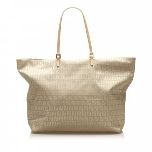 Fendi Borsa larga beige Nylon
