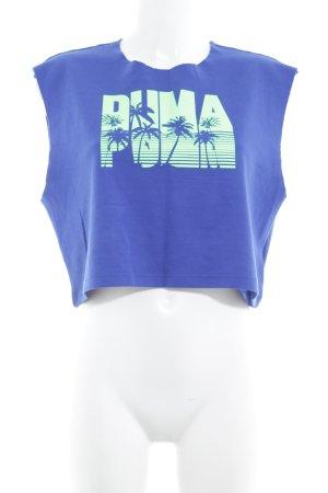 Fenty Puma by Rihanna Cropped Top dunkelblau Schriftzug gedruckt Casual-Look
