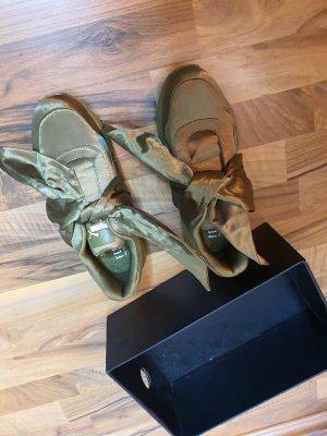 fenty × puma sneaker grün satin schleifen 38,5